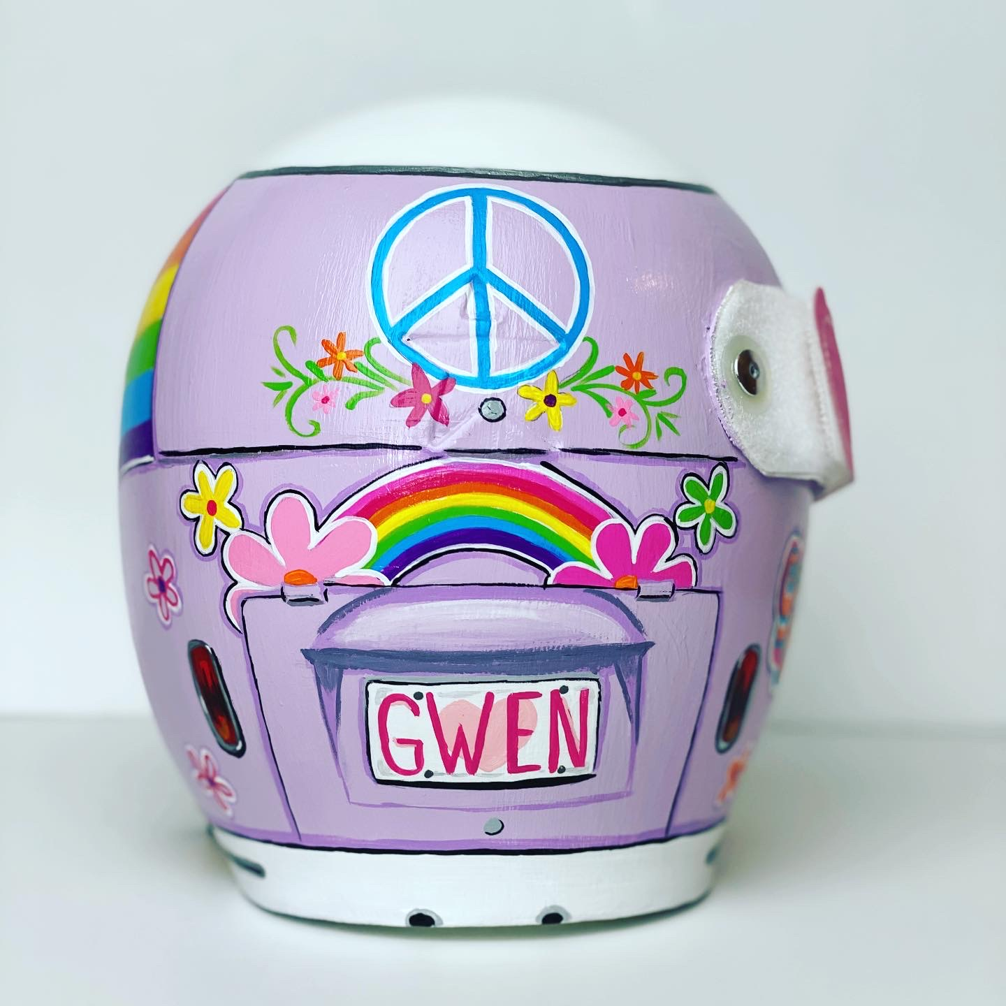 | Painted Cranial Helmet | Custom Painted Cranial Band | Cranial Band Artist