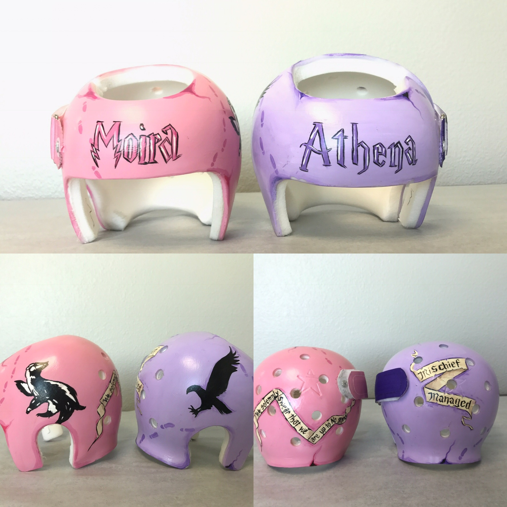 Harry Potter Twins| Painted Cranial Helmet | Custom Painted Cranial Band | Cranial Band Artist